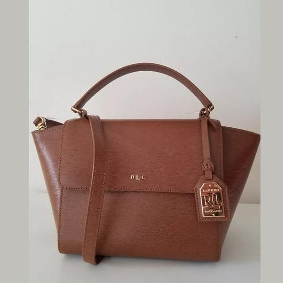 672dfa29a240 Ralph Lauren Newbury Barclay Leather Crossbody Bag